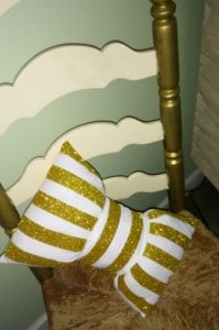 bow and chair pillow