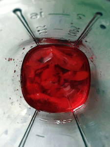Cherry & Whiskey Cocktail In-Process #4
