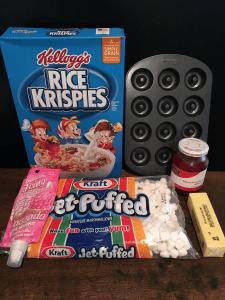 V-Day Rice Krispy Sandwich Ingredients