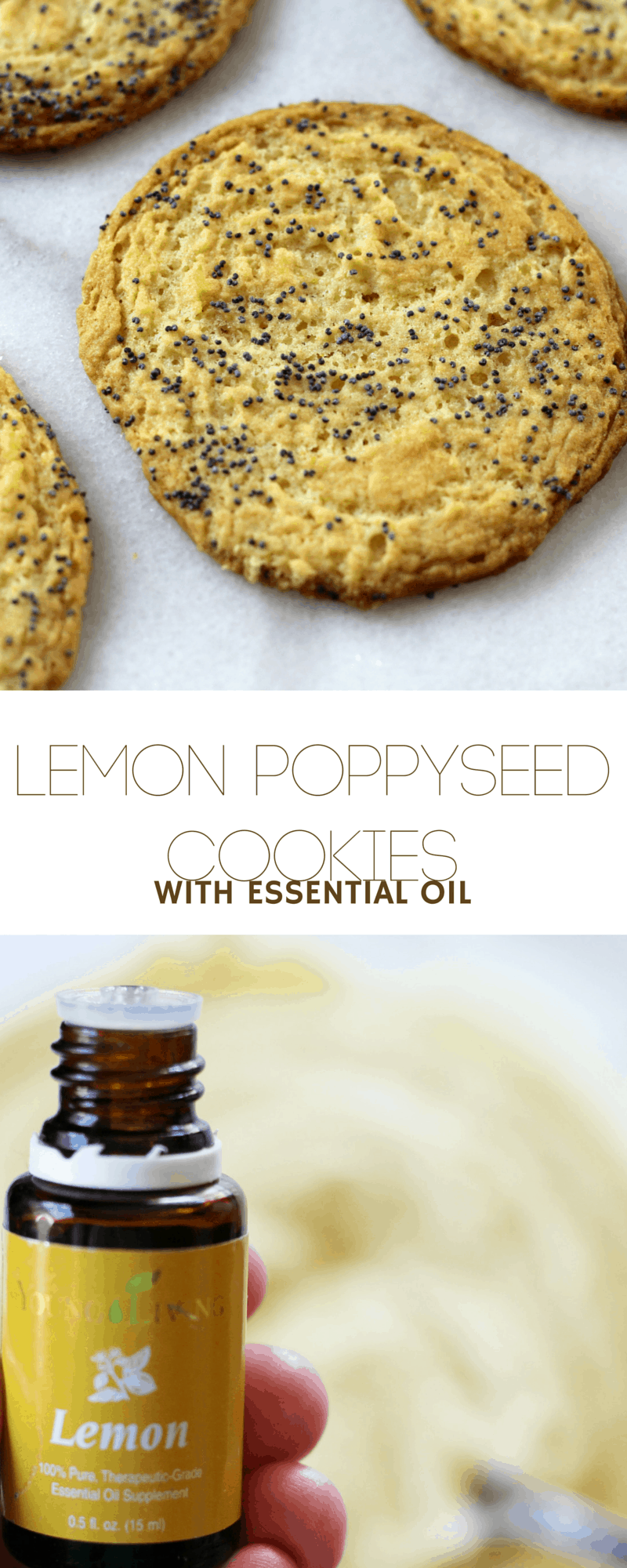 Lemon Poppy-Seed Cookies ~ Crisp & delicate, made with essentail oil for a lemony tang.