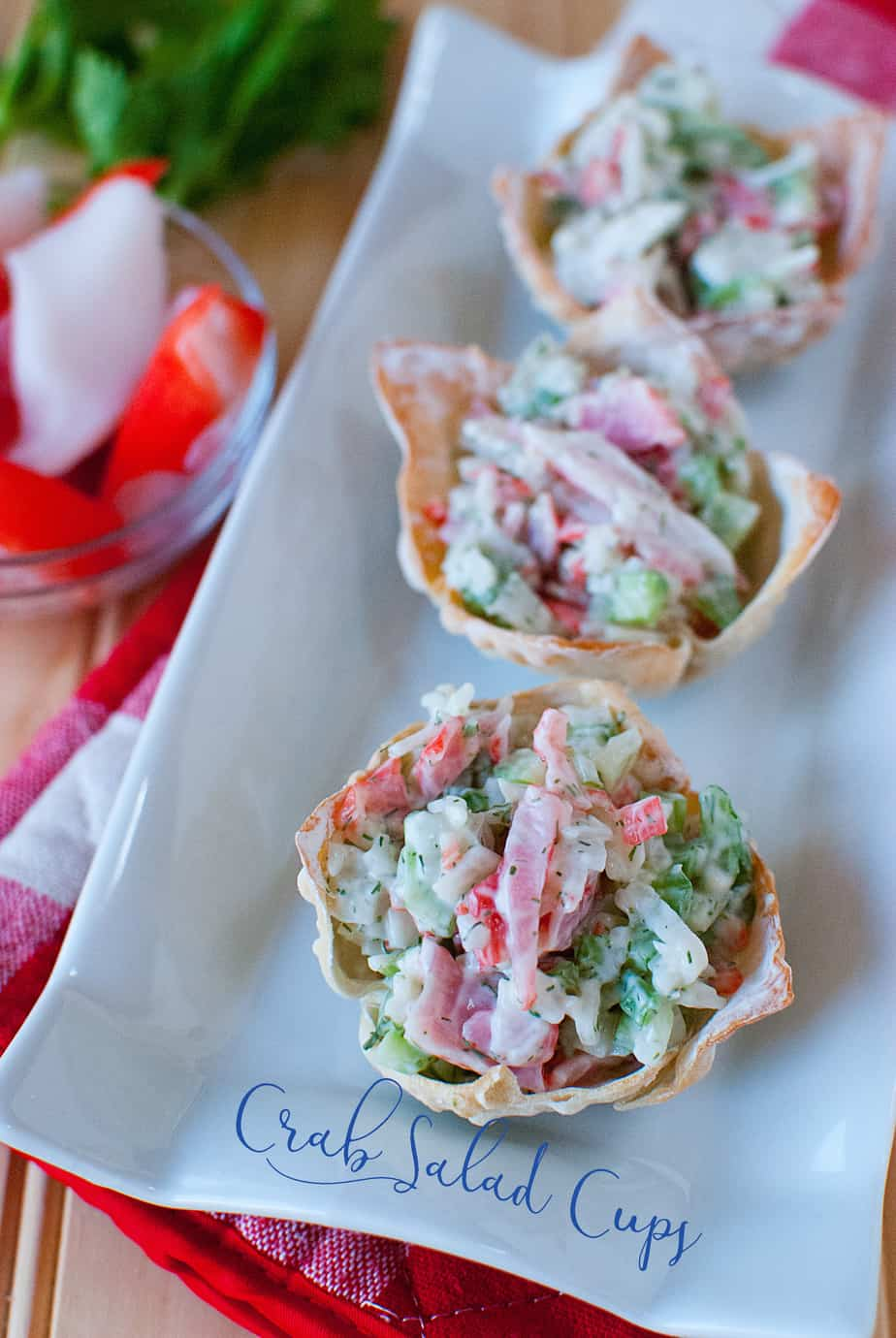 Crab Salad Wonton Appetizers13