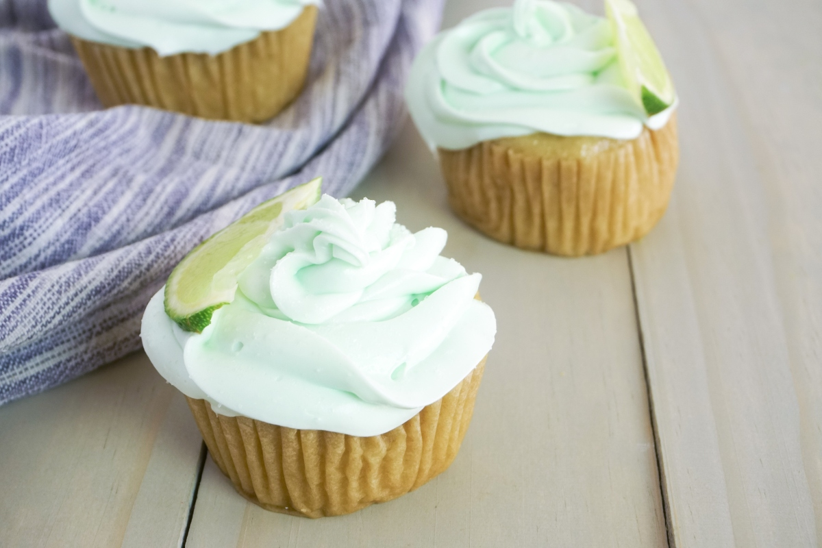 Tequila Infused Margarita Cupcakes