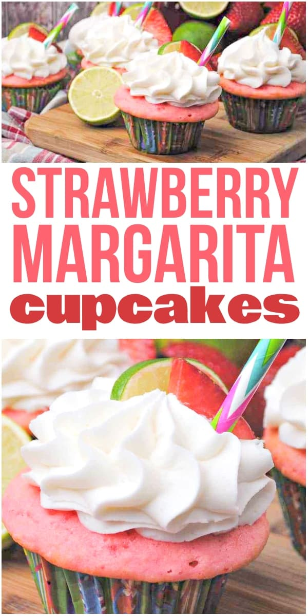 Strawberry Margarita Cupcakes W Tequila